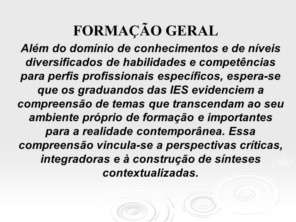 FORMAÇÃO GERAL