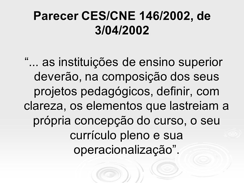 Parecer CES/CNE 146/2002, de 3/04/2002