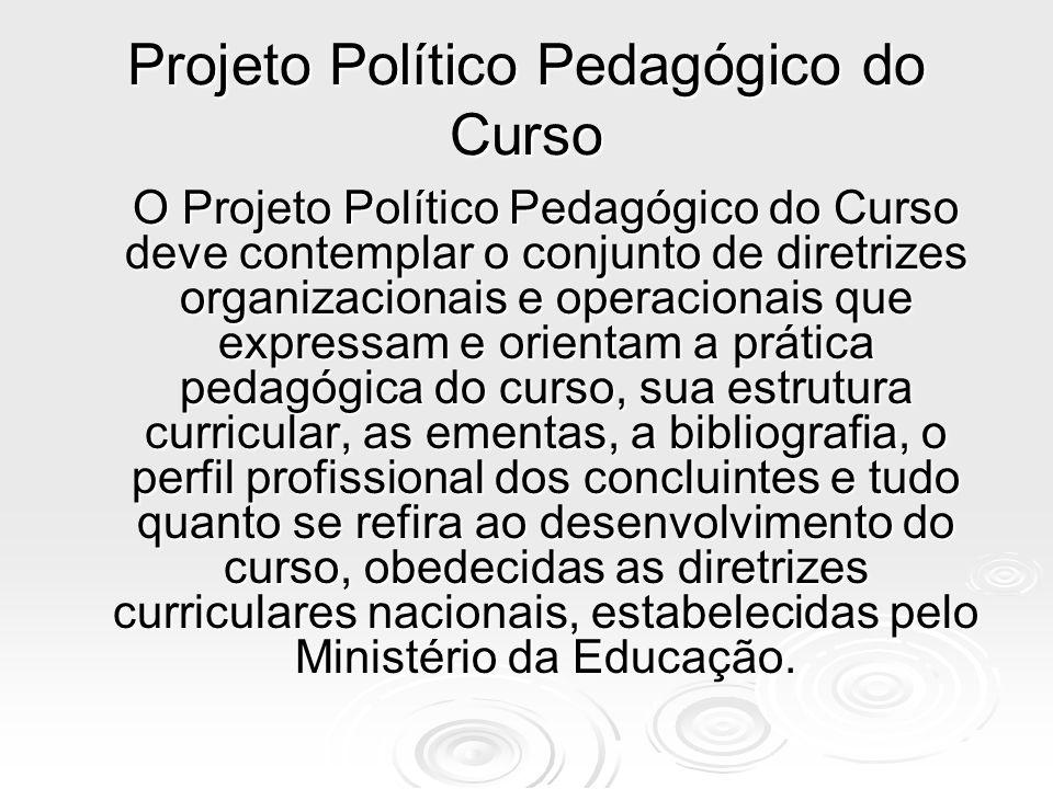 Projeto Político Pedagógico do Curso