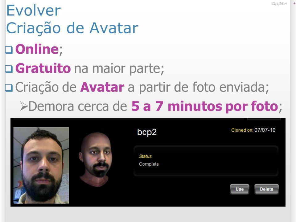Evolver Criação de Avatar
