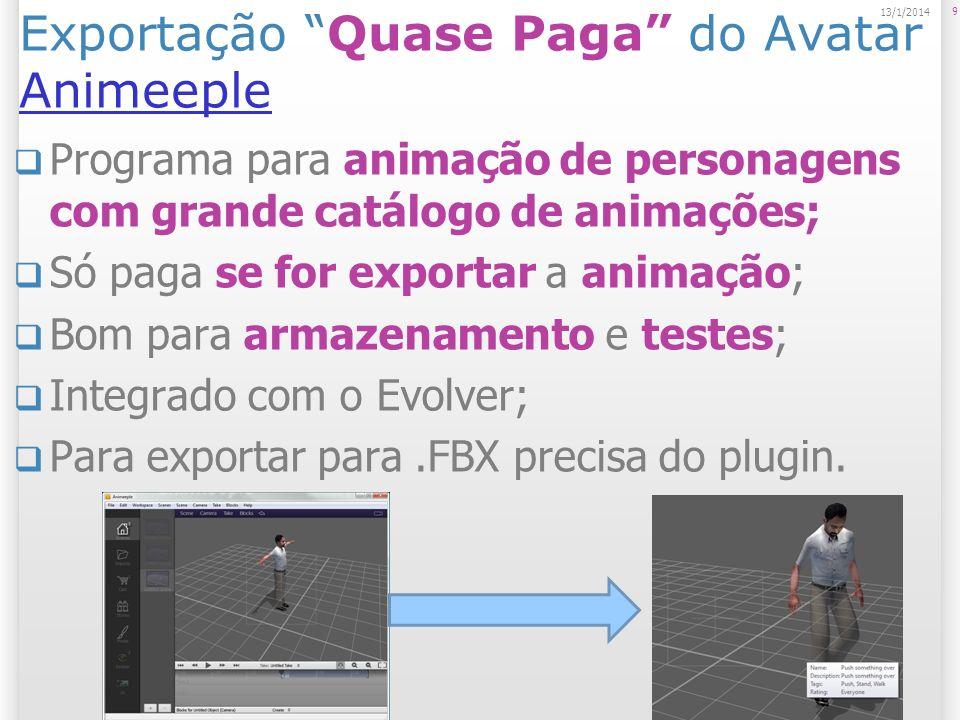 Exportação Quase Paga do Avatar Animeeple