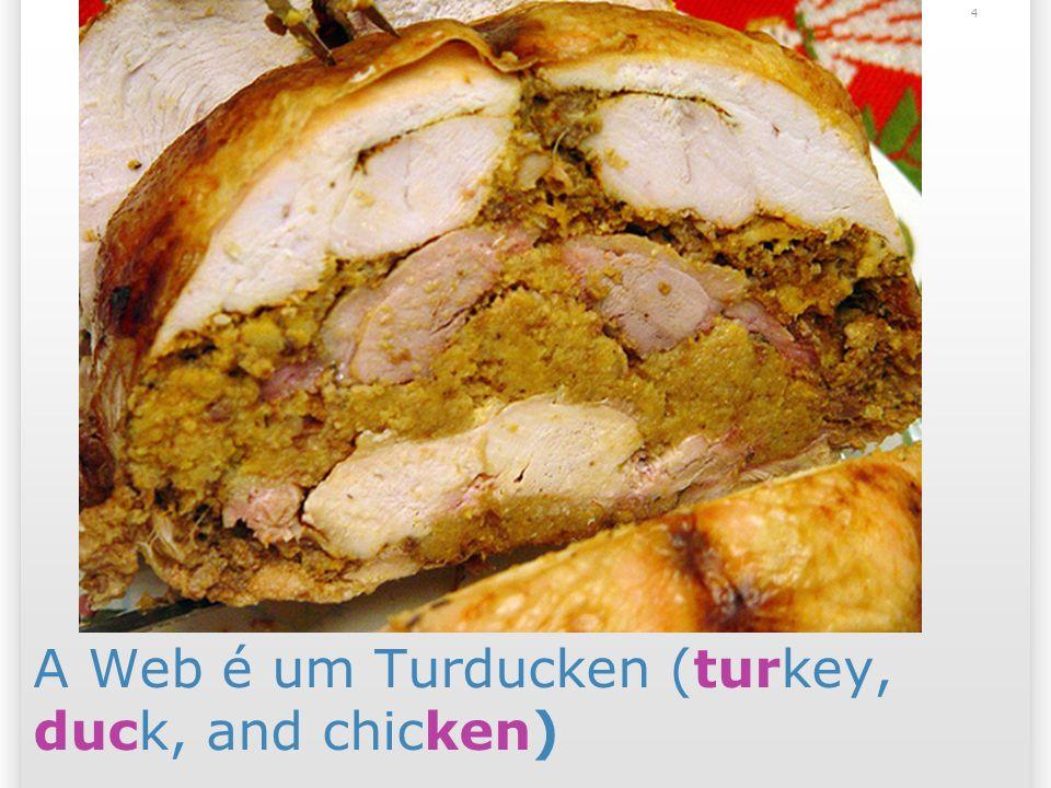 A Web é um Turducken (turkey, duck, and chicken)