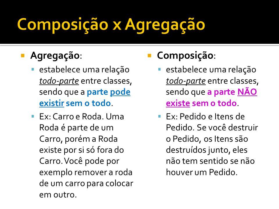 Composição x Agregação