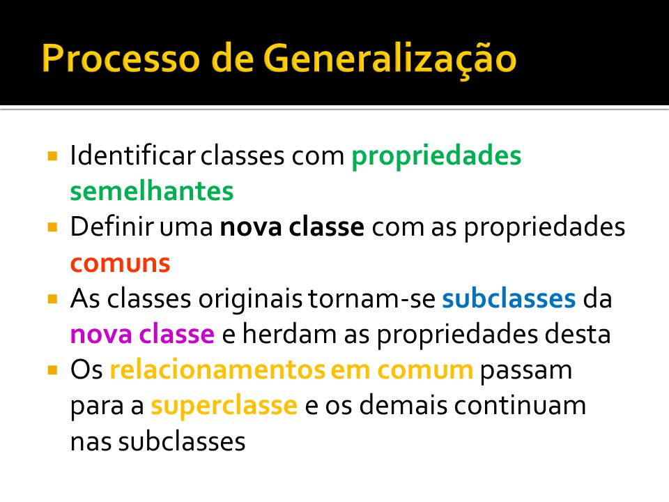 Processo de Generalização
