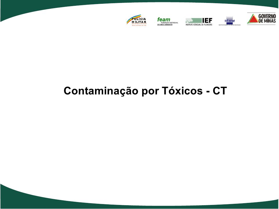 Contaminação por Tóxicos - CT