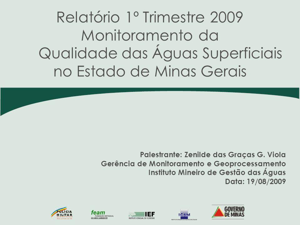 Qualidade das Águas Superficiais no Estado de Minas Gerais