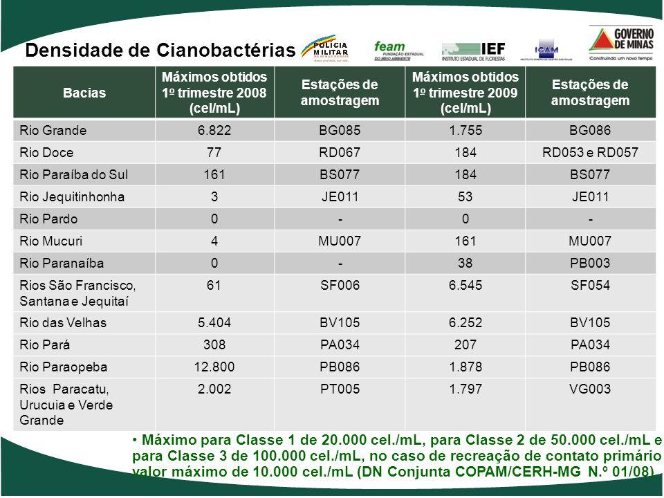 Densidade de Cianobactérias