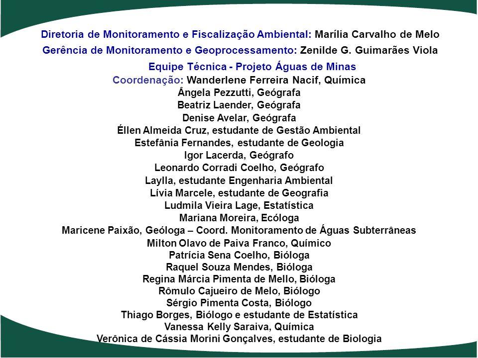 Equipe Técnica - Projeto Águas de Minas