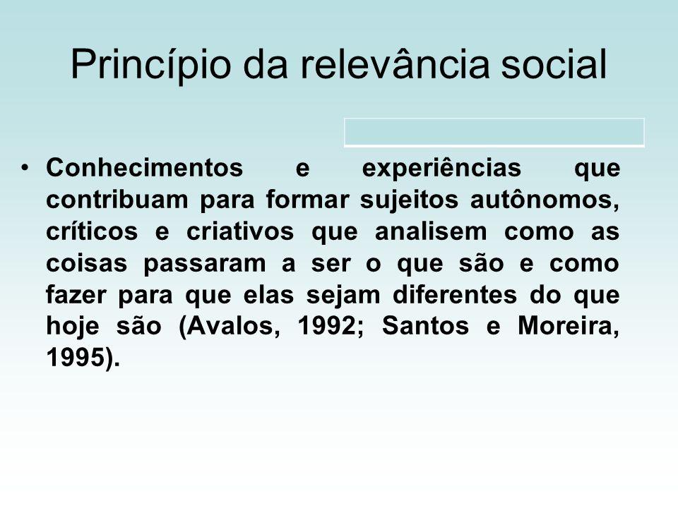 Princípio da relevância social