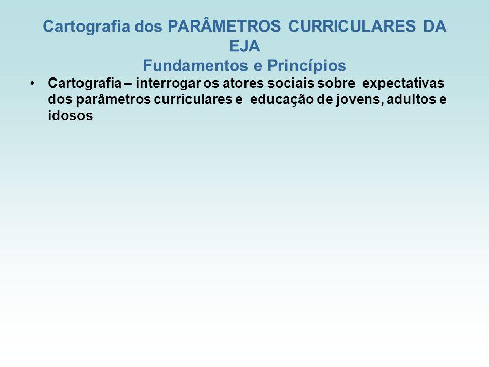 Cartografia dos PARÂMETROS CURRICULARES DA EJA Fundamentos e Princípios