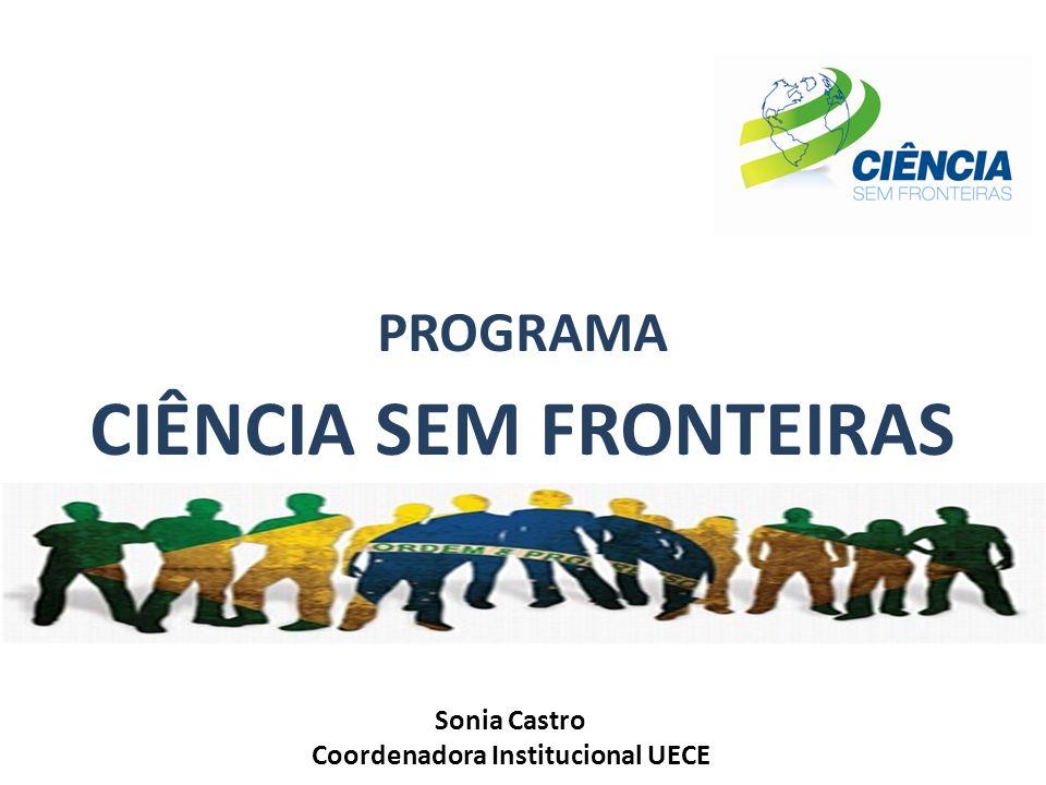 CIÊNCIA SEM FRONTEIRAS Coordenadora Institucional UECE