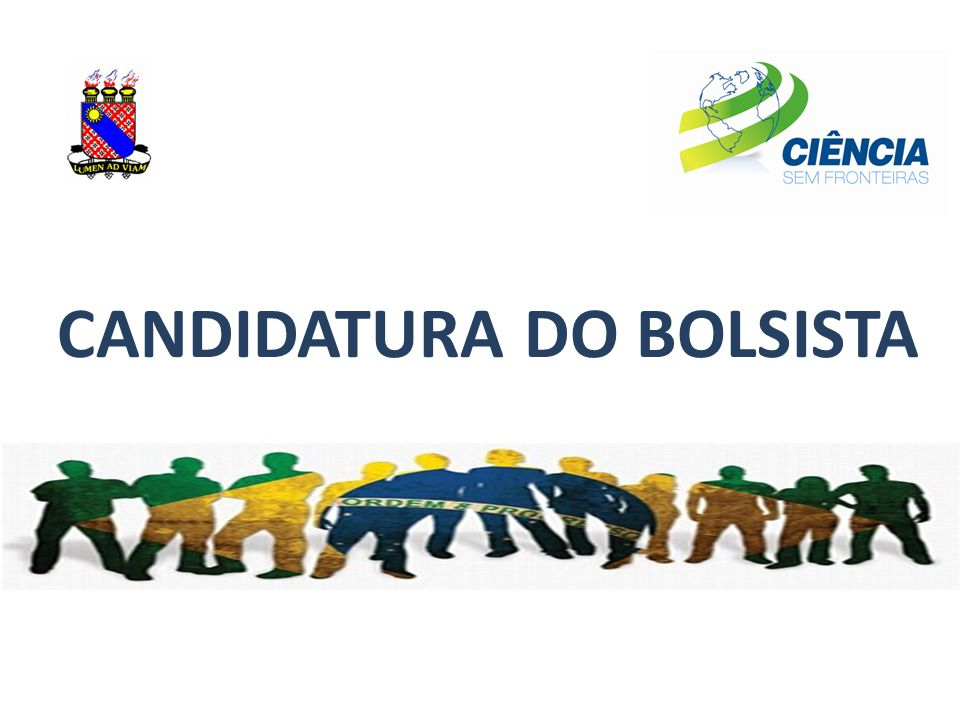 CANDIDATURA DO BOLSISTA