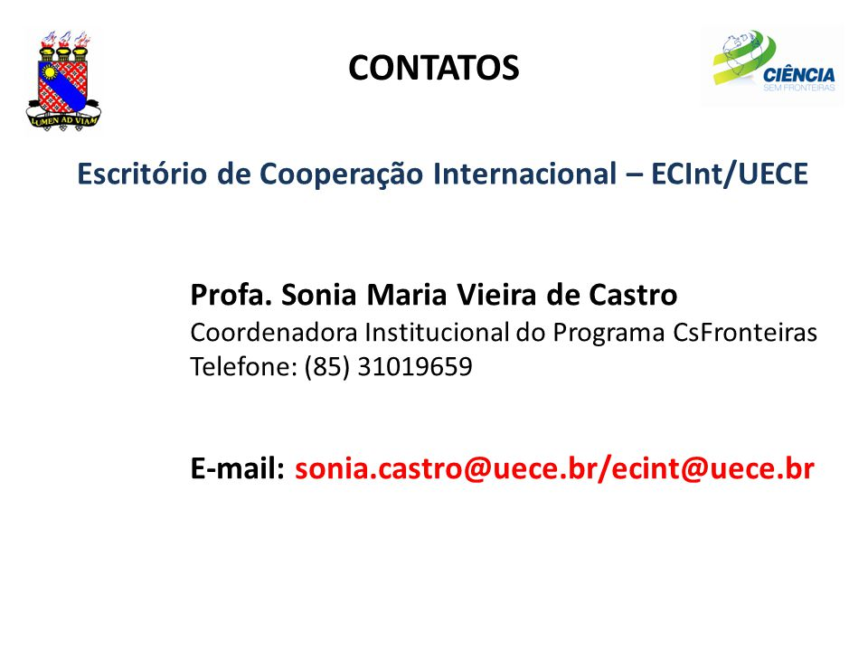 Escritório de Cooperação Internacional – ECInt/UECE