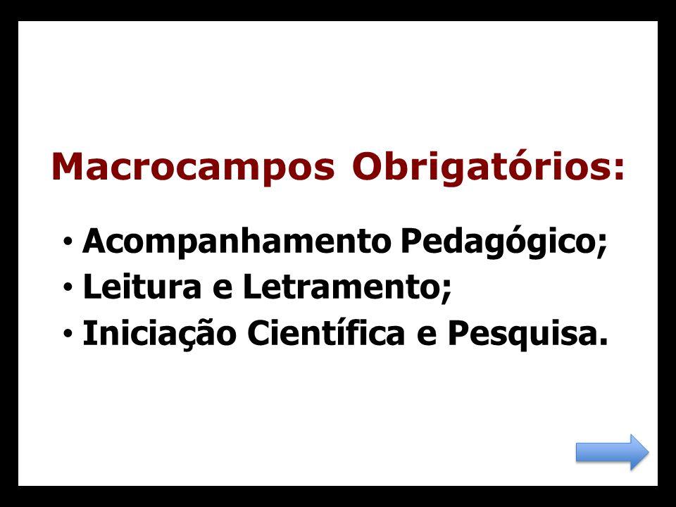 Macrocampos Obrigatórios: