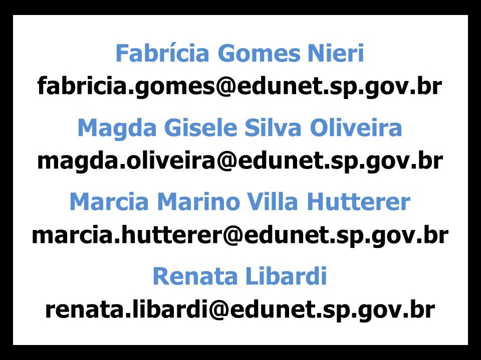 Magda Gisele Silva Oliveira Marcia Marino Villa Hutterer