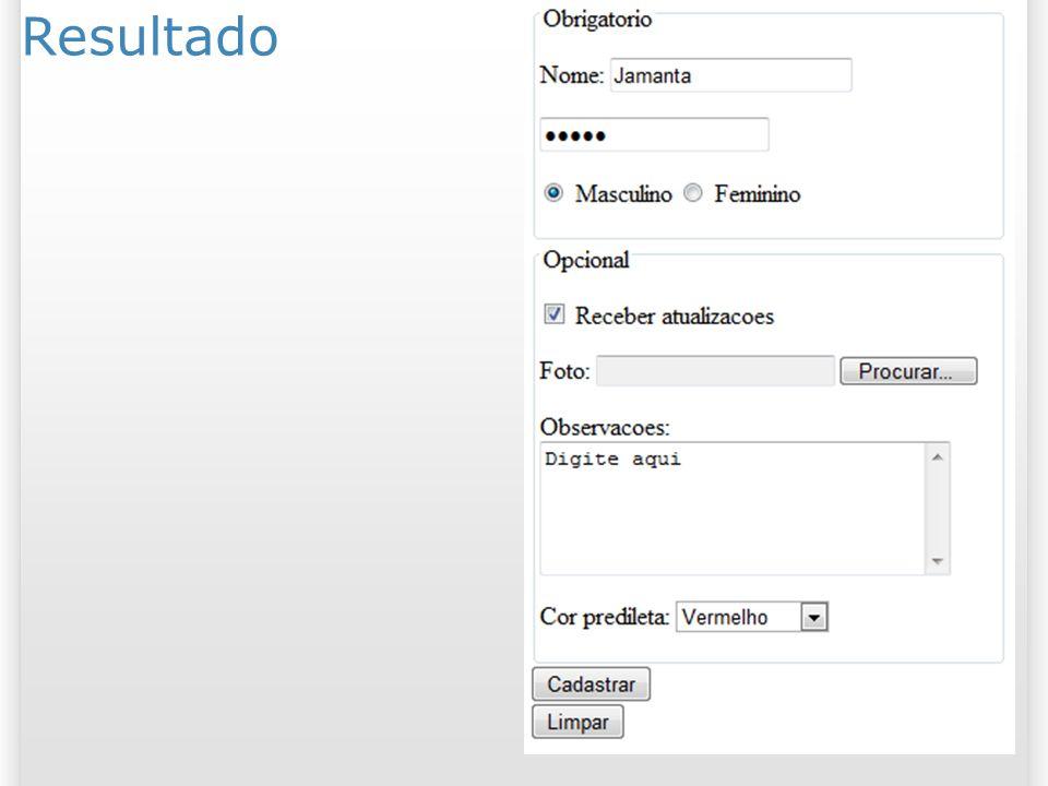 Resultado 25/03/2017. <form action= http://www.brunocampagnolo.com/2010_1/testform/ > <p> <legend>Obrigatorio</legend>