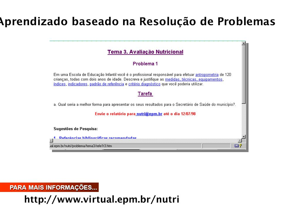 Aprendizado baseado na Resolução de Problemas