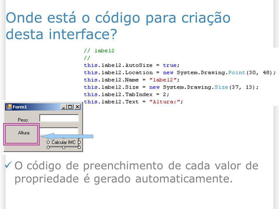 Onde está o código para criação desta interface