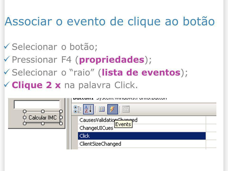 Associar o evento de clique ao botão