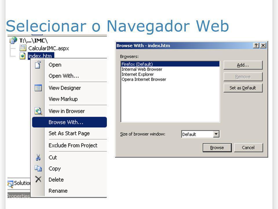 Selecionar o Navegador Web