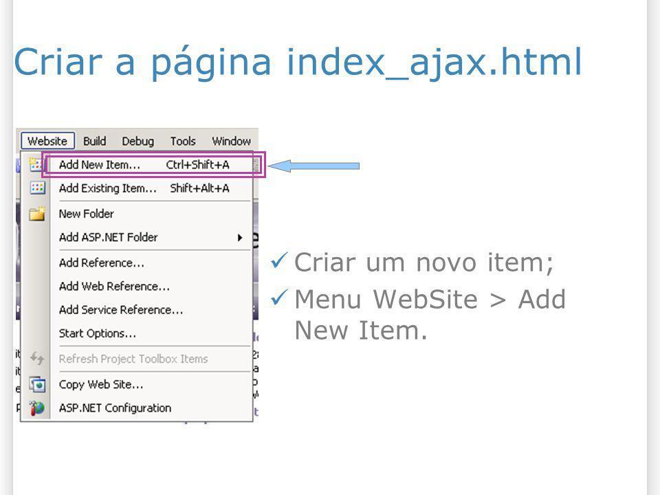 Criar a página index_ajax.html
