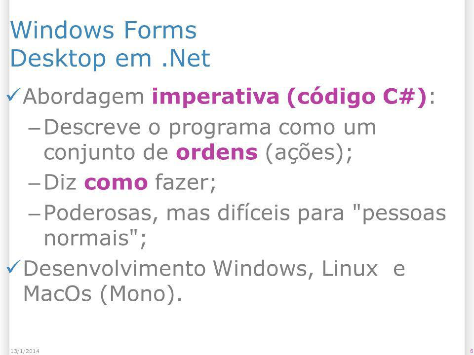 Windows Forms Desktop em .Net