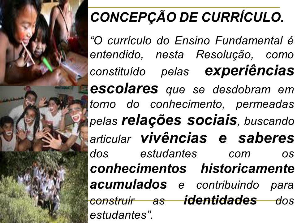 CONCEPÇÃO DE CURRÍCULO.