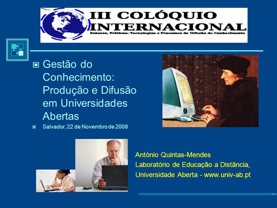 Gestão do Conhecimento: Produção e Difusão em Universidades Abertas