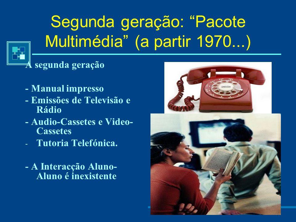 Segunda geração: Pacote Multimédia (a partir 1970...)