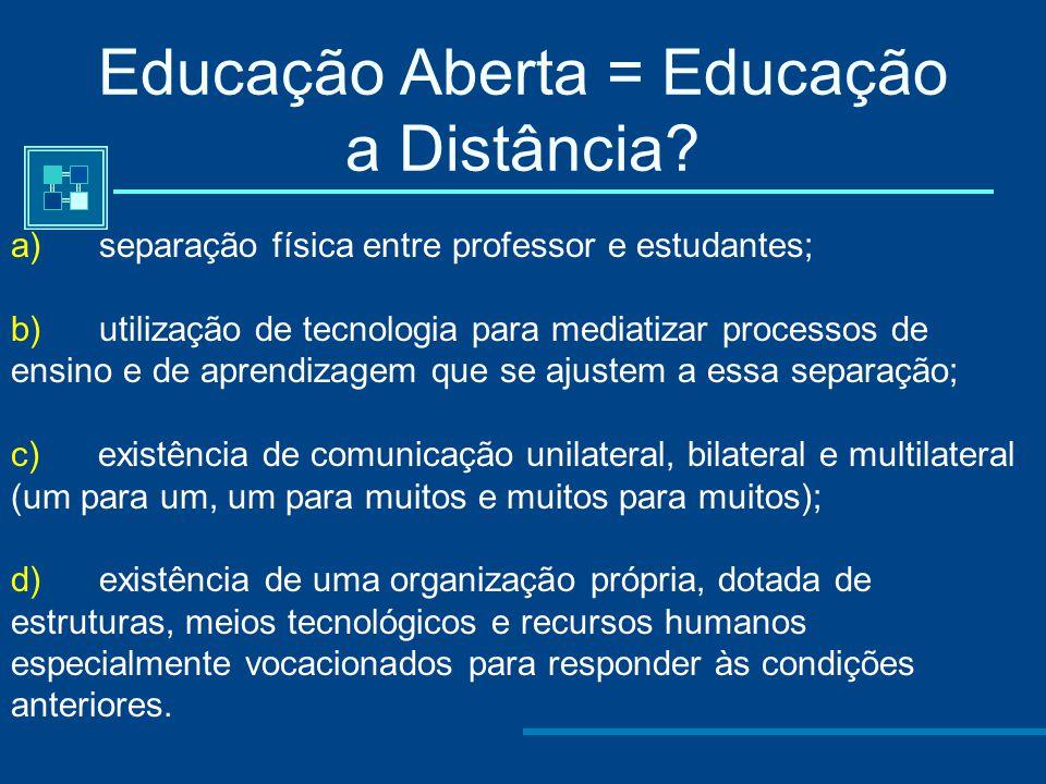Educação Aberta = Educação a Distância