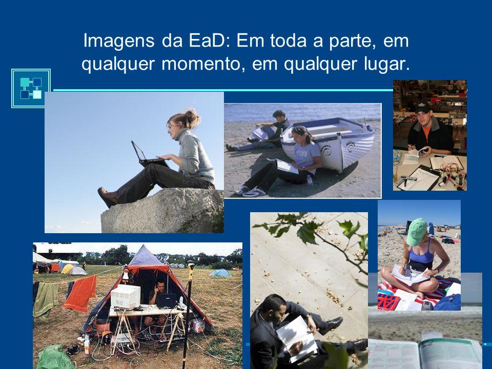 Imagens da EaD: Em toda a parte, em qualquer momento, em qualquer lugar.