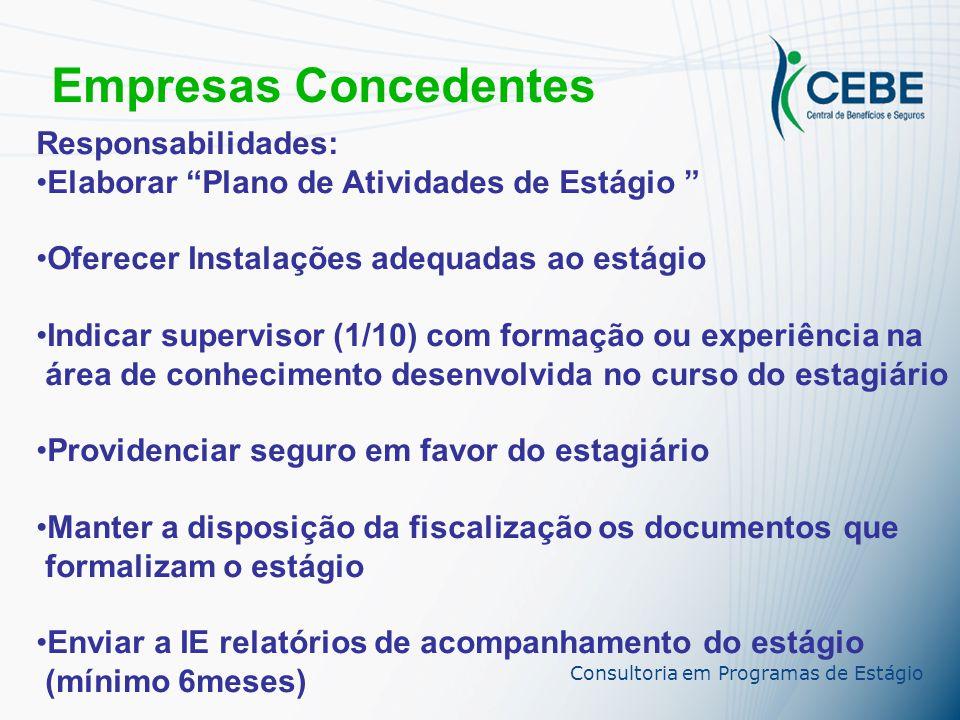 Empresas Concedentes Responsabilidades: