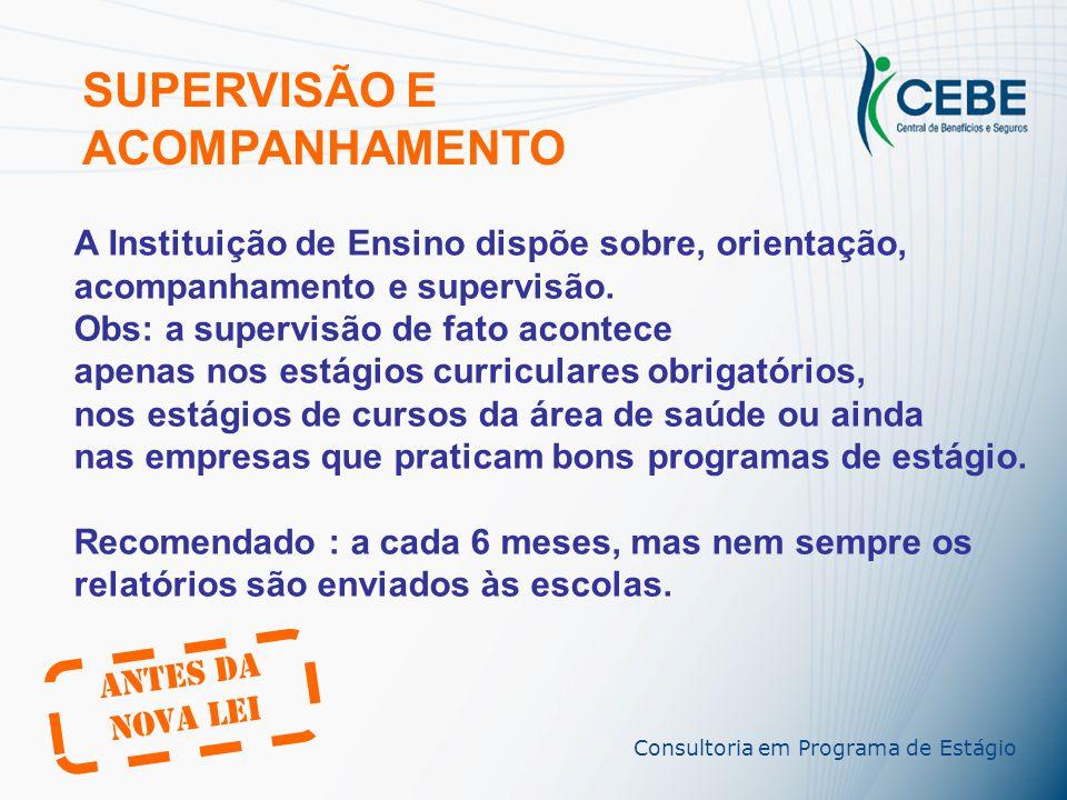 SUPERVISÃO E ACOMPANHAMENTO