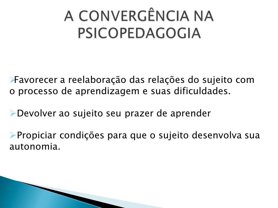 A CONVERGÊNCIA NA PSICOPEDAGOGIA
