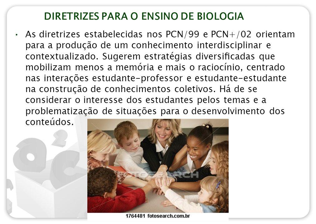 DIRETRIZES PARA O ENSINO DE BIOLOGIA