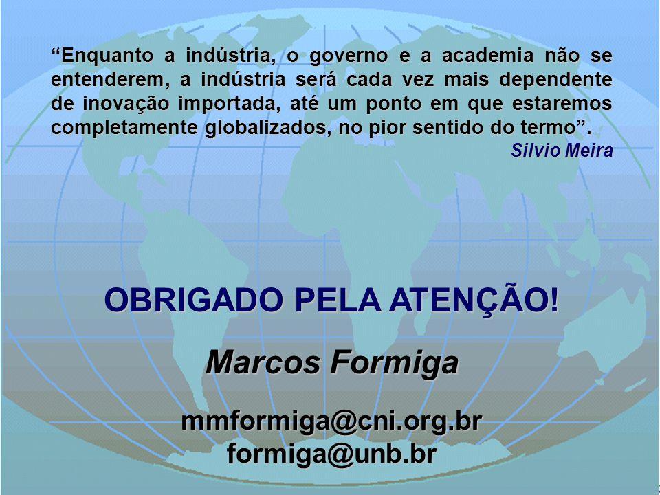 OBRIGADO PELA ATENÇÃO! Marcos Formiga