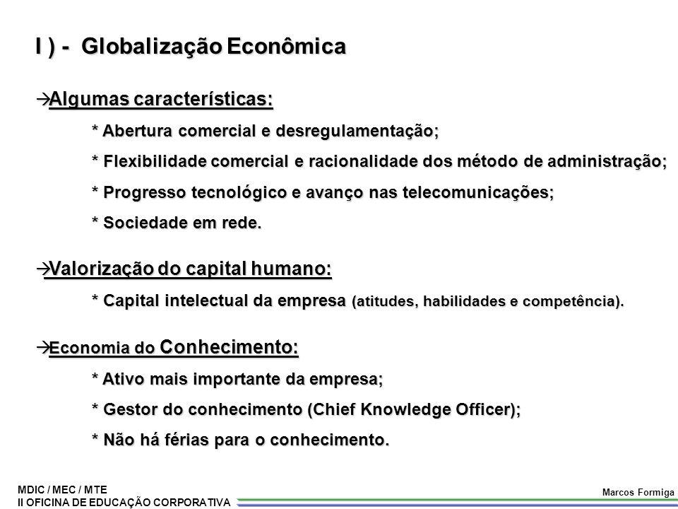 I ) - Globalização Econômica