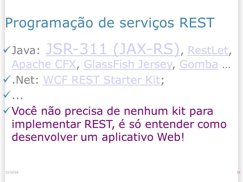 Programação de serviços REST