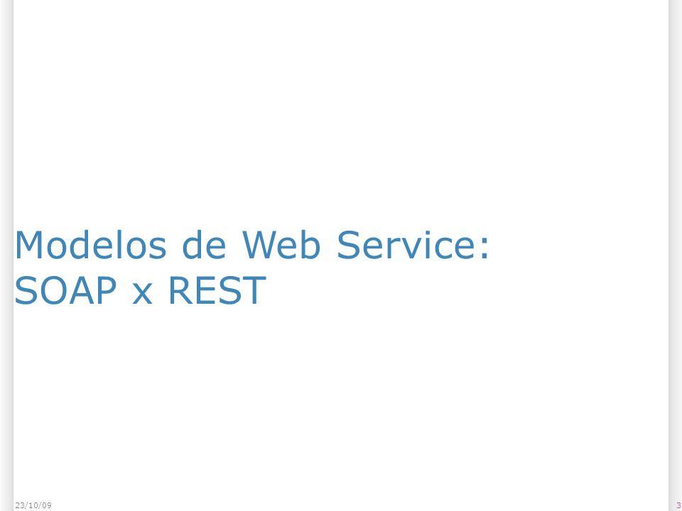 Modelos de Web Service: SOAP x REST