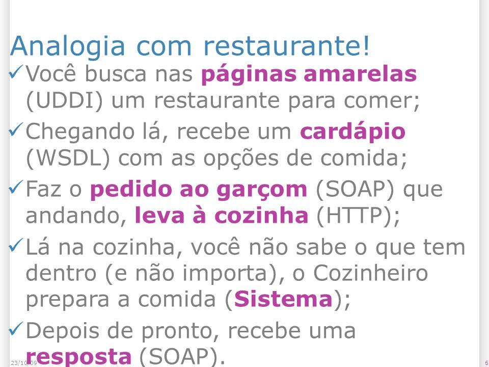 Analogia com restaurante!