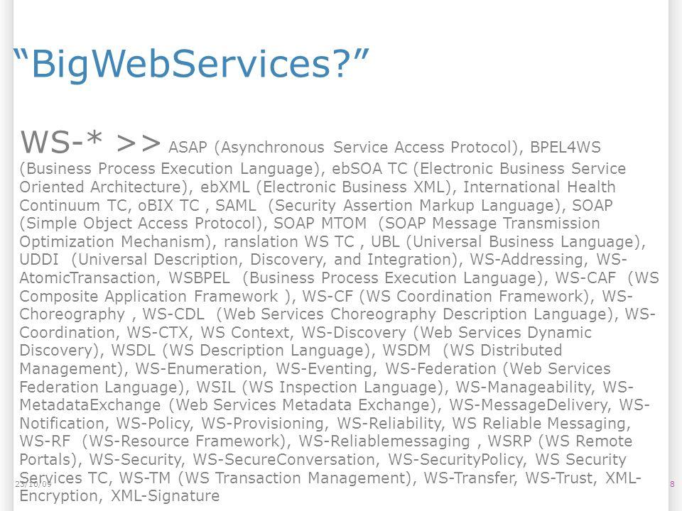 23/10/09 BigWebServices