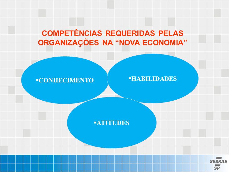 COMPETÊNCIAS REQUERIDAS PELAS ORGANIZAÇÕES NA NOVA ECONOMIA