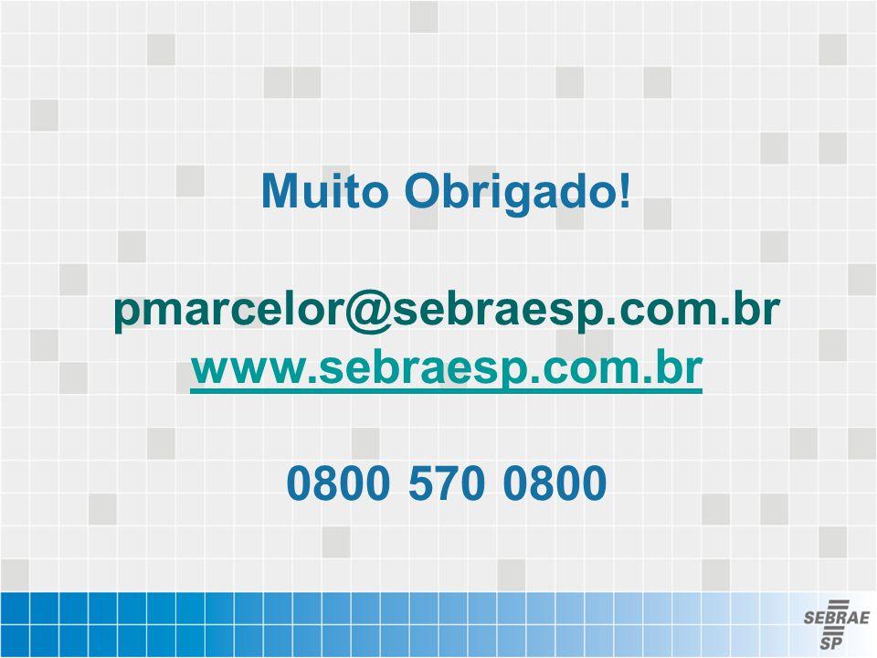 Muito Obrigado. pmarcelor@sebraesp. com. br www. sebraesp. com