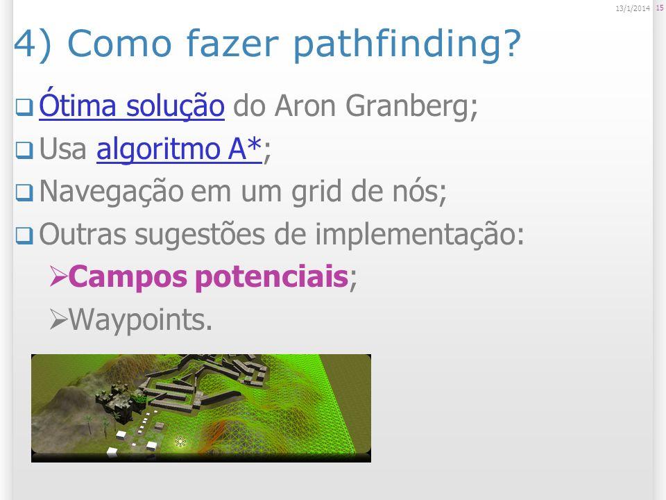 4) Como fazer pathfinding