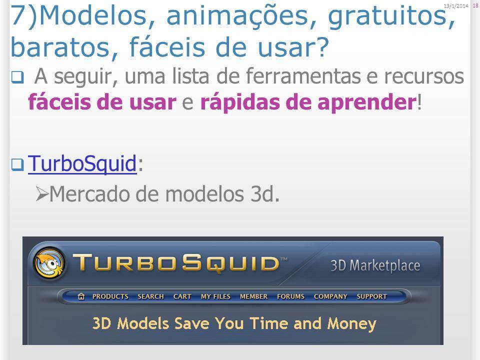 7)Modelos, animações, gratuitos, baratos, fáceis de usar