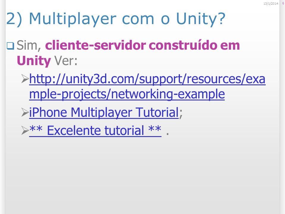 2) Multiplayer com o Unity