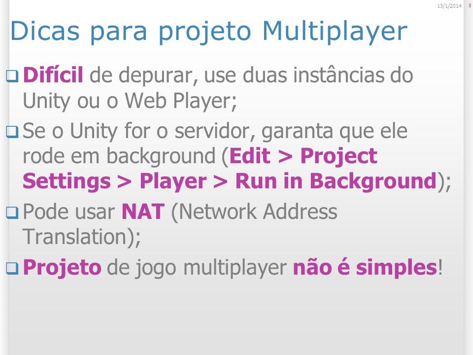 Dicas para projeto Multiplayer