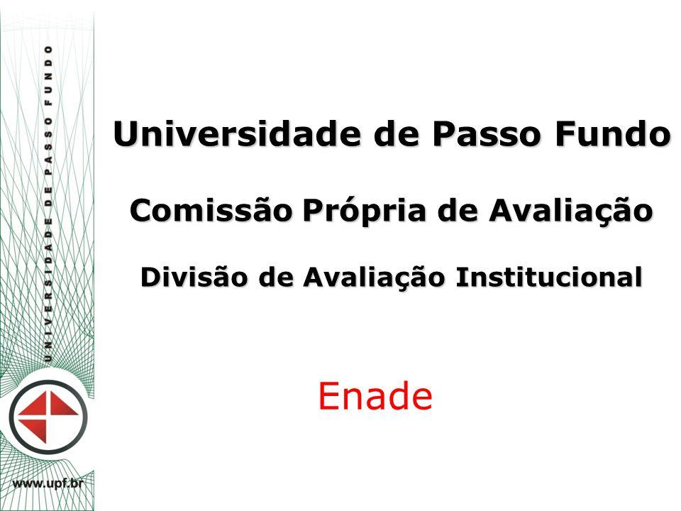 Universidade de Passo Fundo Comissão Própria de Avaliação Divisão de Avaliação Institucional