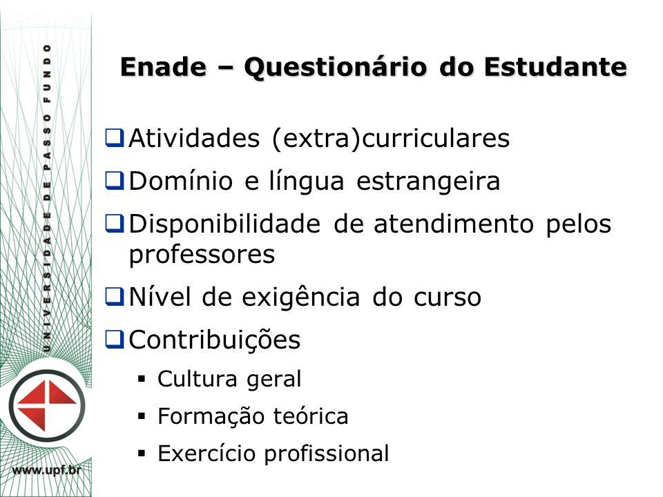 Enade – Questionário do Estudante