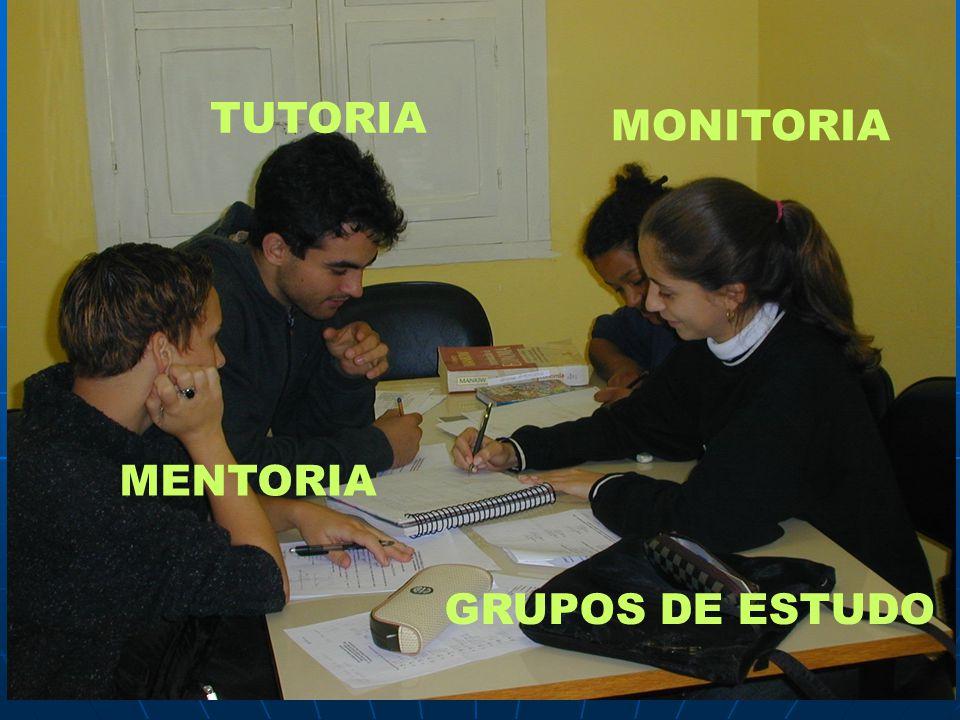 TUTORIA MONITORIA MENTORIA GRUPOS DE ESTUDO